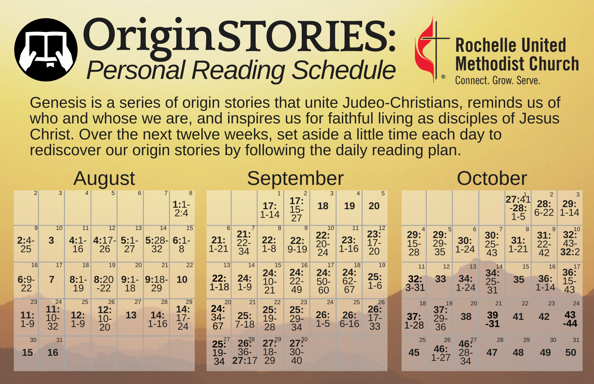 Origin Stories Personal Reading Plan
